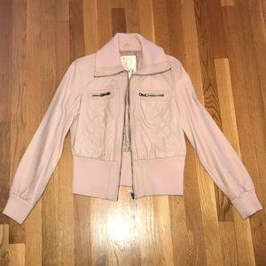 Pink Arden B leather jacket, size XL